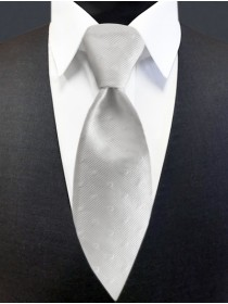 'Allure' Tonal Dot Tie - White