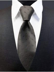 'Allure' Tonal Dot Tie - Charcoal