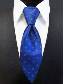 'Allure' Tonal Dot Tie - Royal