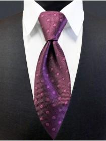 'Allure' Tonal Dot Tie - Plum