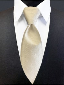 'Allure' Tonal Dot Tie - Diamond White