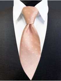 'Allure' Tonal Dot Tie - Blush