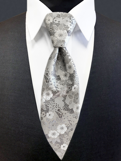 'Allure' Floral Tie - Heather