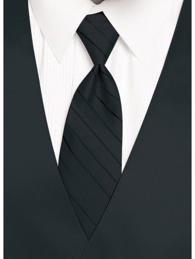 'Larr Brio' Simply Solid Tie - Black