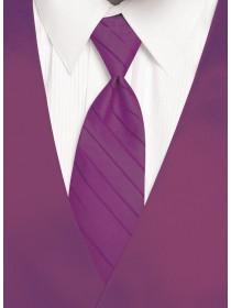 'Larr Brio' Simply Solid Tie - Cassis