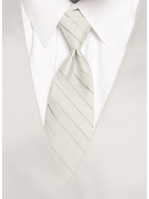 'Larr Brio' Simply Solid Tie - Diamond White
