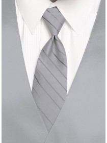 'Larr Brio' Simply Solid Tie - Mercury