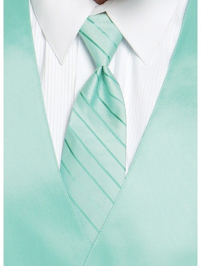 'Larr Brio' Simply Solid Tie - Mint Green