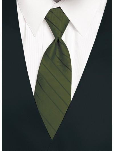 'Larr Brio' Simply Solid Tie - Moss