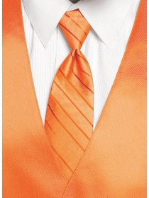 'Larr Brio' Simply Solid Tie - Neon Orange