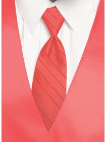 'Larr Brio' Simply Solid Tie - Sunset