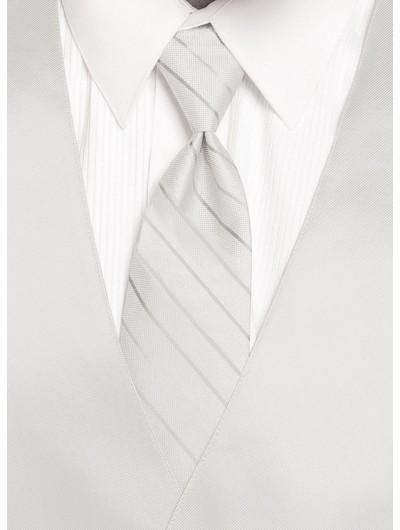'Larr Brio' Simply Solid Tie - White