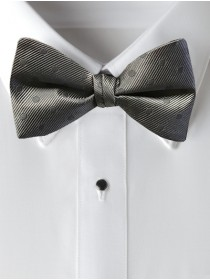 'Allure' Tonal Bow Tie - Charcoal