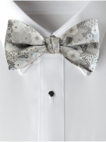 'Allure' Floral Bow Tie - Heather