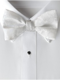 'Allure' Floral Bow Tie - White
