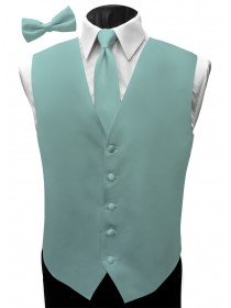 'Malibu' Satin Full Back Vest - Fino Jade