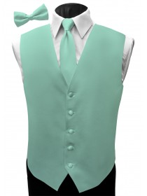 'Malibu' Satin Full Back Vest - Baja Aqua
