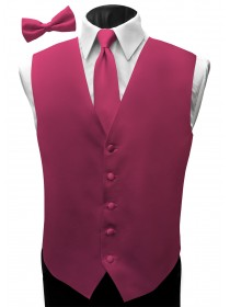 'Malibu' Satin Full Back Vest - PV Cerise