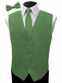 'Malibu' Satin Full Back Vest - Clover