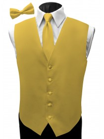 'Malibu' Satin Full Back Vest - Rio Maize