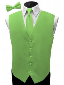 'Malibu' Satin Full Back Vest - Rio Lime