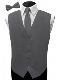 'Malibu' Satin Full Back Vest - Victorian Pewter
