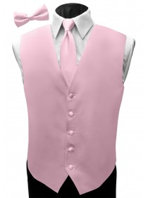 'Malibu' Satin Full Back Vest - BL Pink