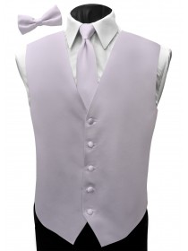 'Malibu' Satin Full Back Vest - Pretty Lilac