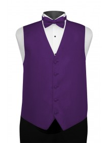 'Larr Brio' Portofino Full Back Vest - Purple