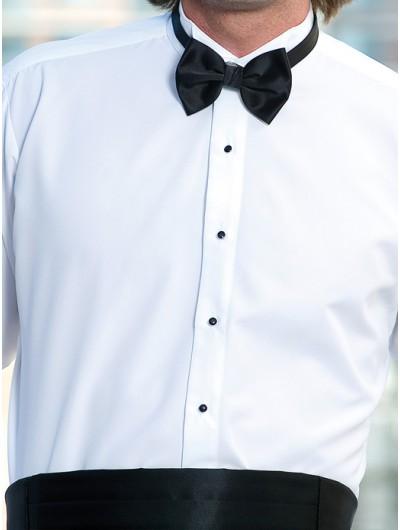 Microfiber White Wing Tip Shirt