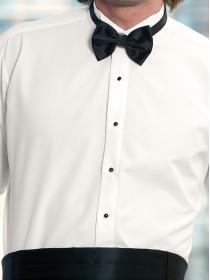 Microfiber Ivory Wingtip Shirt