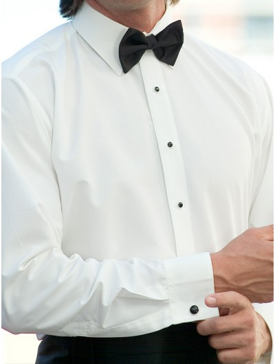 Microfiber Ivory Laydown Collar Shirt