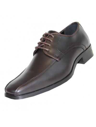 'Tux-5' Matte Finish Brown Shoe