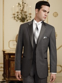'Jean Yves' Twilight Steel Gray Notch Lapel