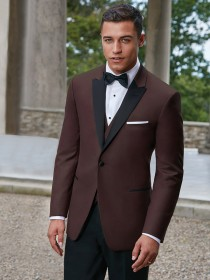 'Ike Behar' Burgundy Peak Lapel 1 Button