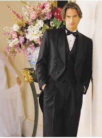 'Raffinati' Black Shawl Lapel Tailcoat