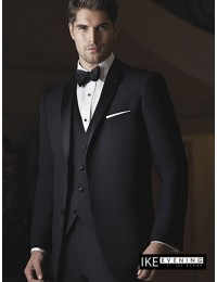 4-Ike Behar Black Slim Fit