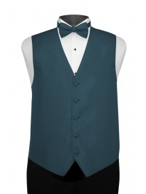 'Larr Brio' Portofino Full Back Vest - Dark Peacock