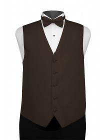 'Larr Brio' Portofino Full Back Vest - Chocolate