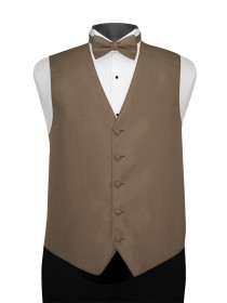 'Larr Brio' Portofino Full Back Vest - Dark Latte