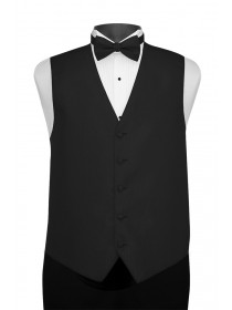 'Larr Brio' Portofino Full Back Vest - Black