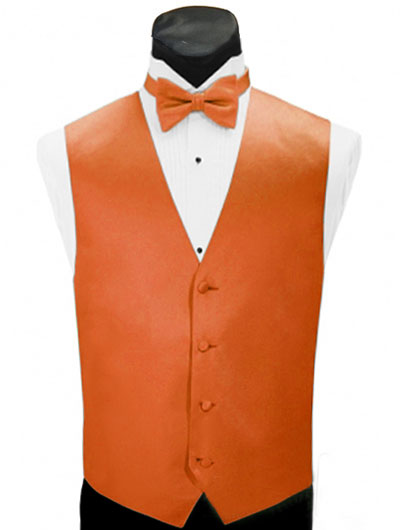 'Larr Brio' Simply Solid Full Back Vest - Neon Orange