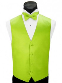 'Larr Brio' Simply Solid Full Back Vest - Neon Lime