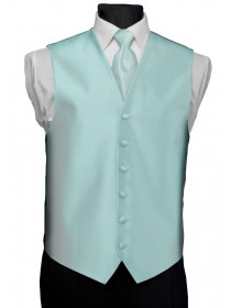 'After Six' Aries Full Back Vest - Aqua