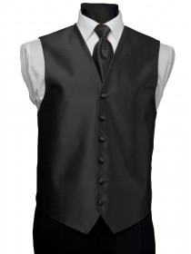 'After Six' Aries Full Back Vest - Black