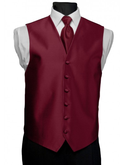 'After Six' Aries Full Back Vest - Claret