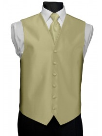 'After Six' Aries Full Back Vest - Gold