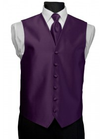 'After Six' Aries Full Back Vest - Grape
