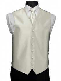'After Six' Aries Full Back Vest - Ivory