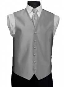'After Six' Aries Full Back Vest - Platinum